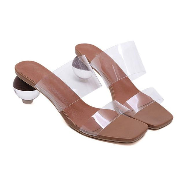 Ariah II Transparent Strap Sandals - white / 4 - women's