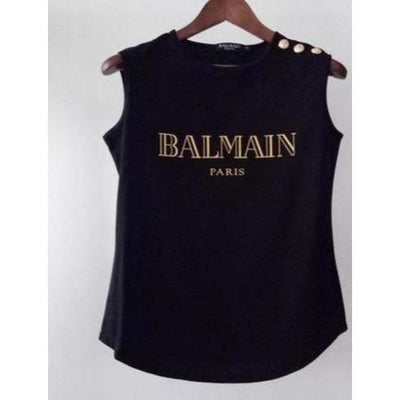 Balmain Women's Sleeveless Shirt - S - Women's clothing