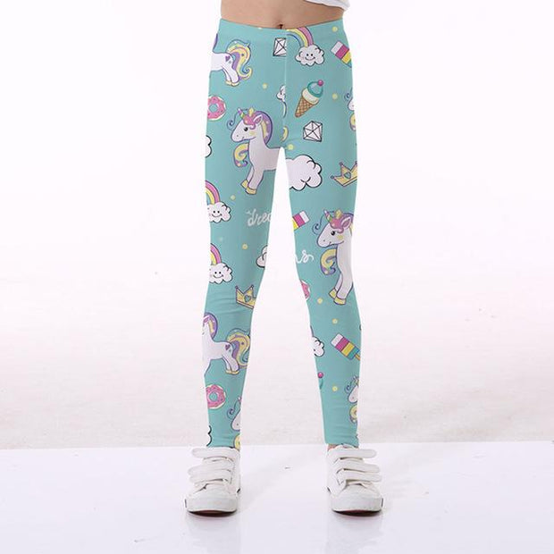 Basics Girls Print Leggings - TYTK-1099 / 11T