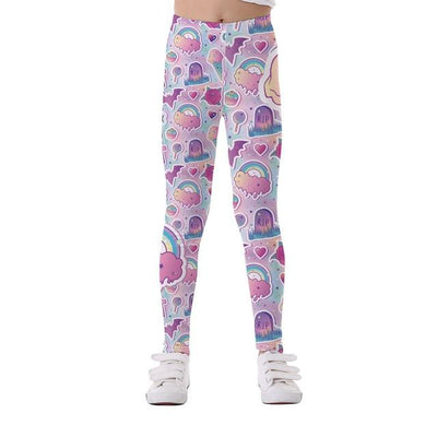 Basics Girls Print Leggings - TYTK-1107 / 11T