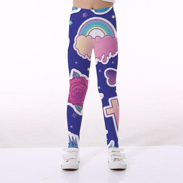 Basics Girls Print Leggings - TYTK-1116 / 11T