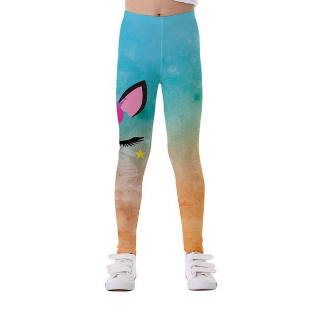 Basics Girls Print Leggings - TYTK-1118 / 11T
