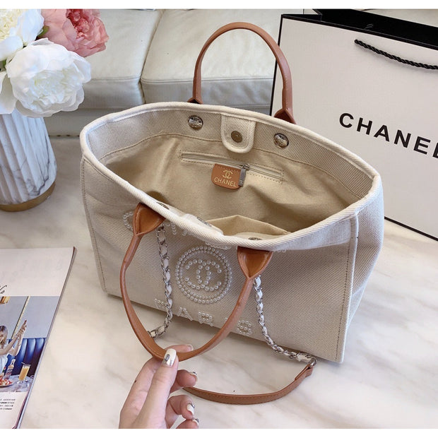 Beige Shopping Bag - women's bags