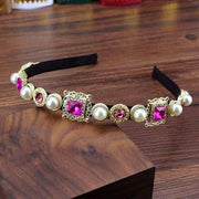 Bejeweled Headbands - hot pink - Hair Jewelry