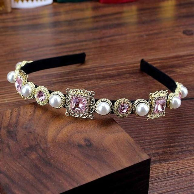 Bejeweled Headbands - light pink - Hair Jewelry