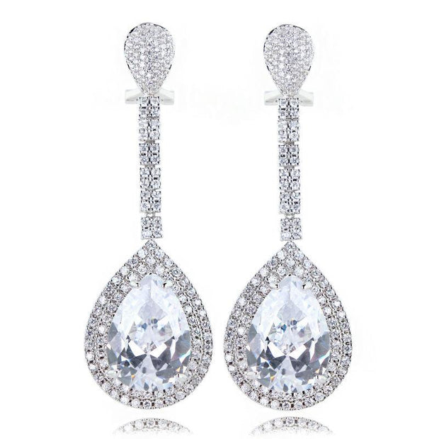 Bella Crystal Drop Earrings - Women's Earrings