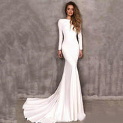 BEVAN - Satin Mermaid Style Wedding Dress - Wedding Dress