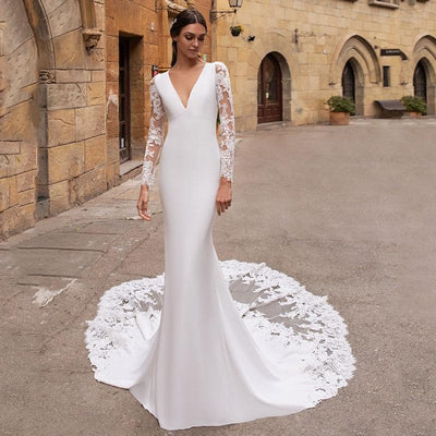 BILLIE - Long-Sleeve Wedding Dress with Mermaid Cut and
