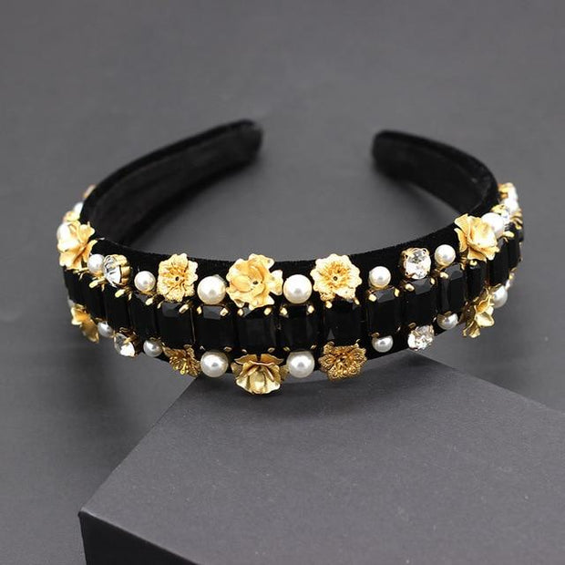 Black and Gold Elegant Headbands - 6 Different Styles