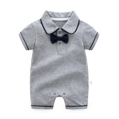 Boy's Romper - grey / 3M - Baby Boys clothing
