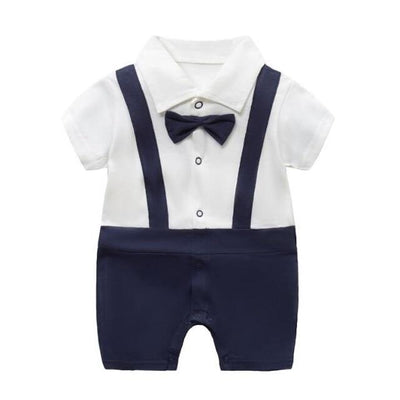 Boy's Romper - navy / 6M - Baby Boys clothing