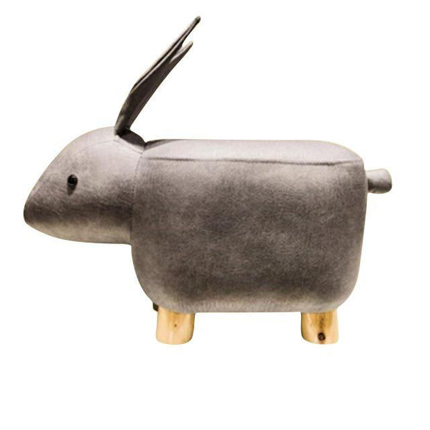 Bunny Ottoman-Gray - stools and ottomans