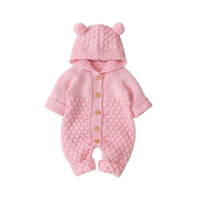 CALEB - Newborn/Baby Knit Jumpsuit - Pink / 18-24M - Baby