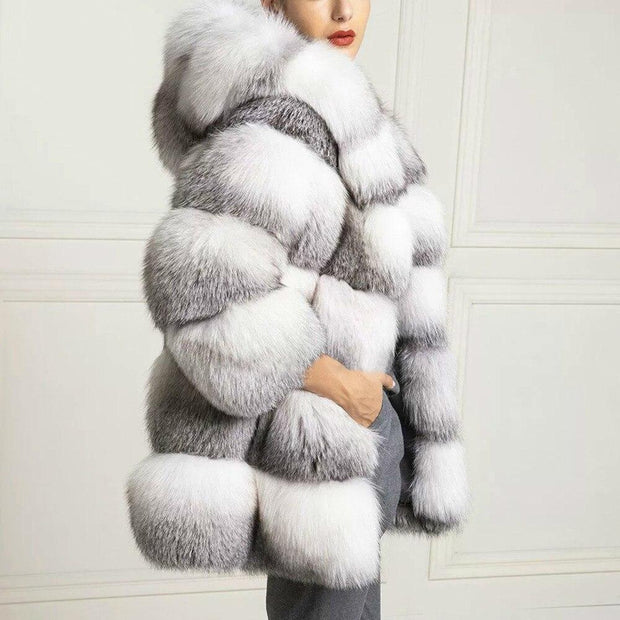 Callie - Genuine Fox Fur Coat - WOMEN'S COATS