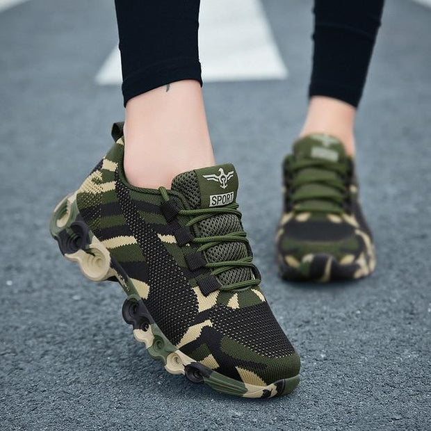 Camouflage Women's Sneakers - Camouflage / 5 - women's Shoes