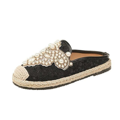 Carly II - 7.5 / Black/ No Fur - women's slippers