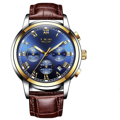 Centerville - L gold blue - men's watches