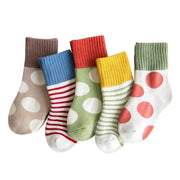 Children's Thermal Socks-5 Pack - c166 / 6 to 8y -