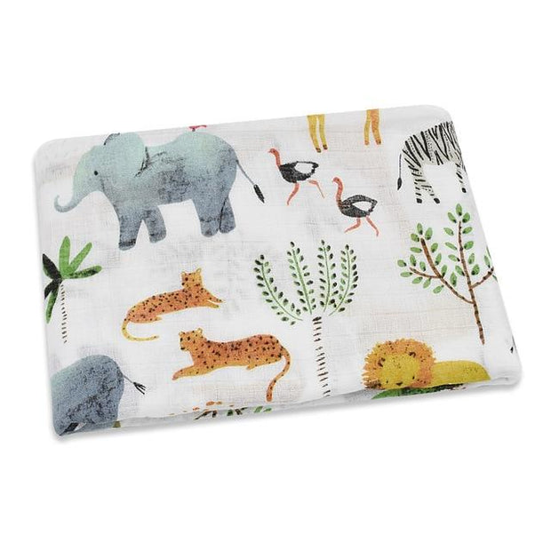Classic Jungle Animals Swaddle - newborn