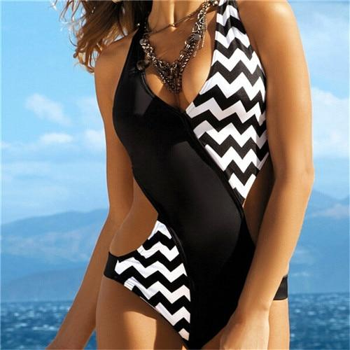COROD - Zig Zag One Piece Swimsuit - S / ZigZag - women's