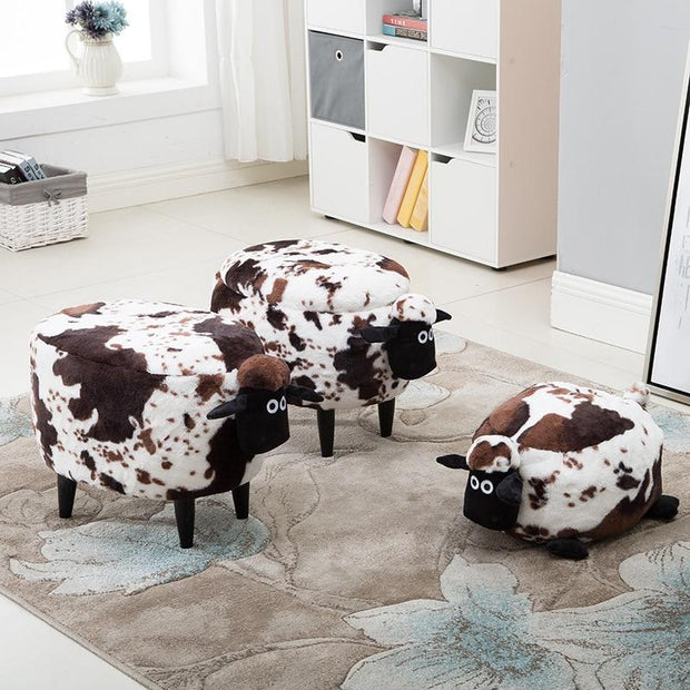 Cow Storage Stool - stools and ottomans