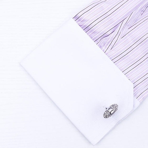 Crystal Embedded Cufflinks - Men's cufflinks