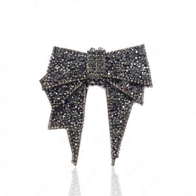 Crystal Embellished Shoe Bow - Shoe Jewelry