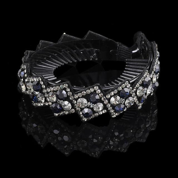 Crystal Hair Clip - 1263-F / Large - Hair Jewelry
