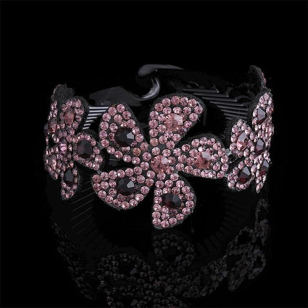 Crystal Hair Clip - 7240-D / Large - Hair Jewelry