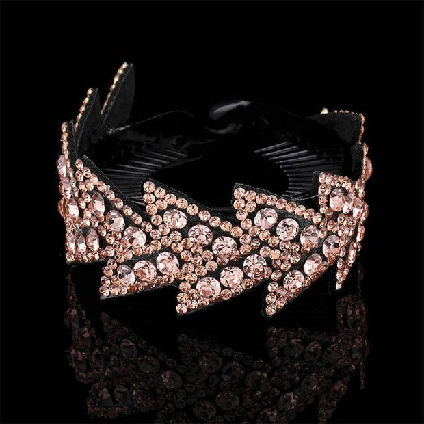 Crystal Hair Clip - 89-D / Large - Hair Jewelry