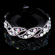 Crystal Hair Clip - 1089-P / Large - Hair Jewelry