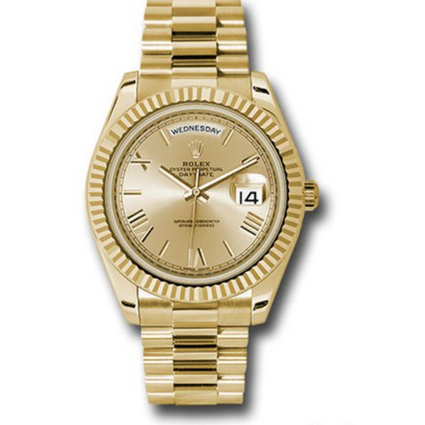 Rolex Day-Date 40 Gold Plated Roman Dial - Men's watches