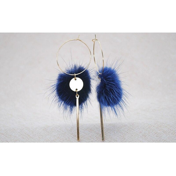Ella II Faux Fur Drop Earrings - Women's Earrings