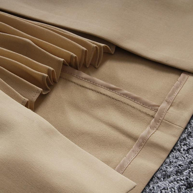 ELLIE - Khaki High Waist Skirt - women's skirts