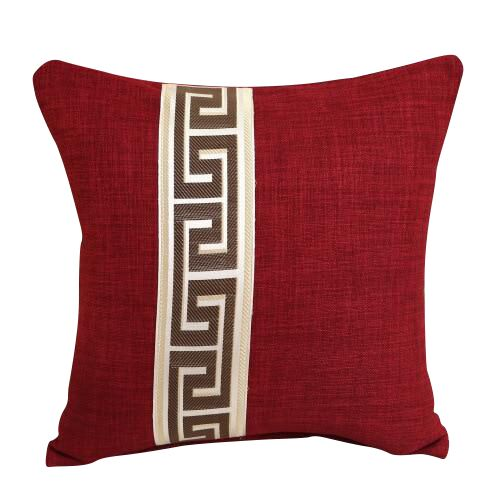 Greek Key Design Wine Pillow Cover