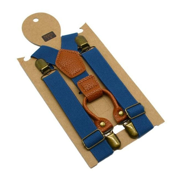 Ethan Blue Suspender - Boy's suspenders