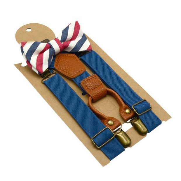 Ethan Bow Tie and Suspender Set - Boy's suspenders