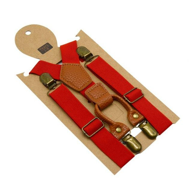 Ethan Red Suspender - Boy's suspenders