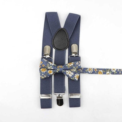 Father and Son Bowtie and Suspender Collection - Dark Gray
