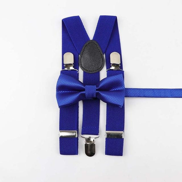 Father and Son Bowtie and Suspender Collection - Royal Blue