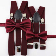 Father and Son Bowtie and Suspender Collection - Wine Set 1