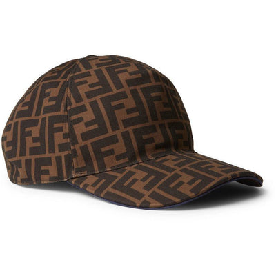FF Logo Print Cap - Brown - Men's hat
