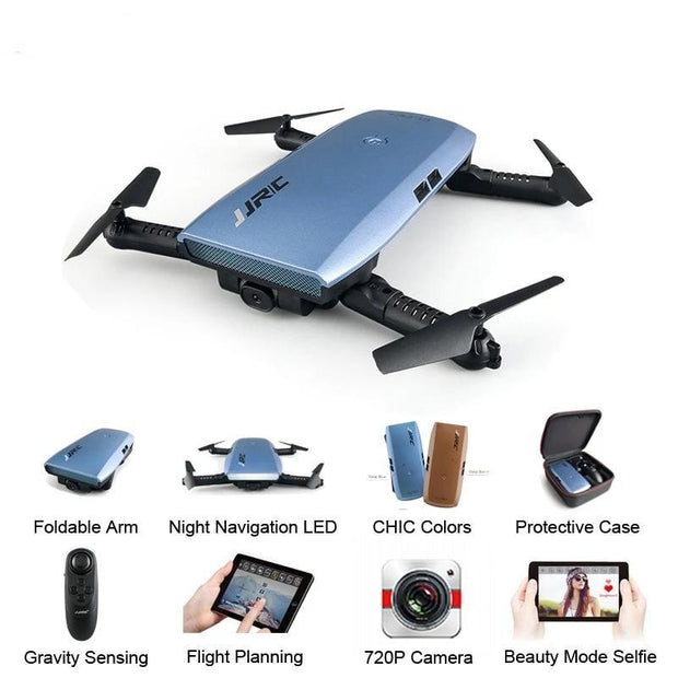 Foldable Selfie RC Drone with HD Camera - Drones