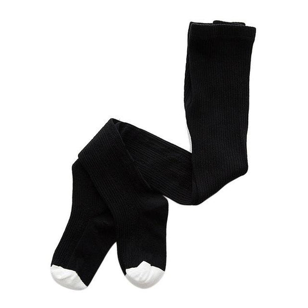 Foxxy Girls Knitted Tights - Black / S - girls tights