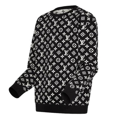 Full Monogram Jacquard Crew Neck - Women's blouses