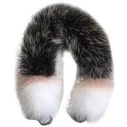 Genuine Fox Fur Handbag Handle Replacement - Frosted