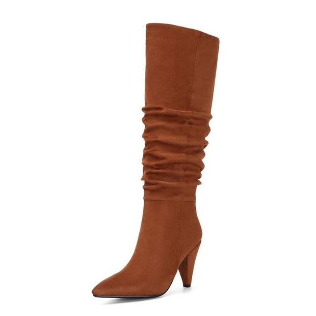 Gloria Boot - Brown / 4 - women's boots