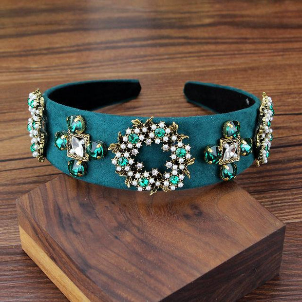 Green Baroque Headband - Hair Jewelry