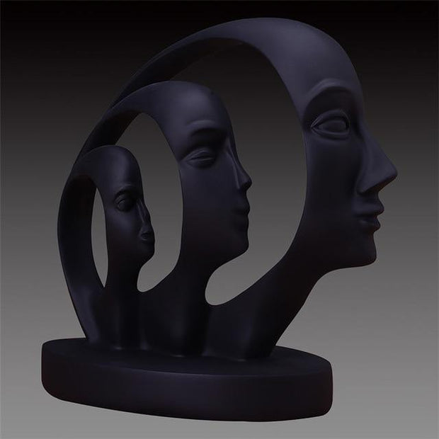 Growing Family - black - Decorative Objects