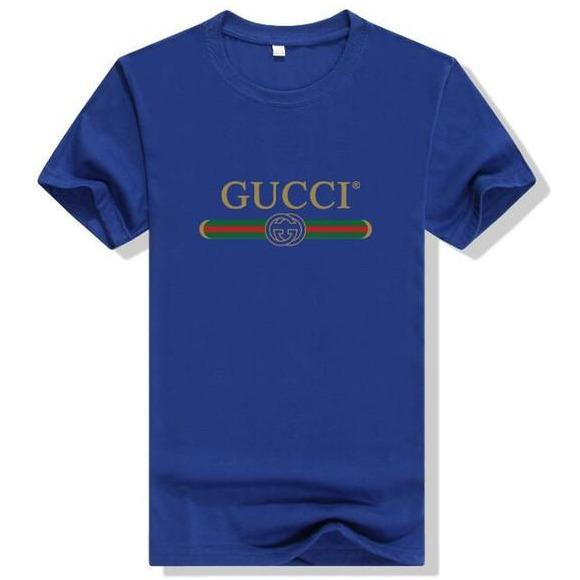 Gucci Logo Cotton T-shirt Blue - S - Women's blouses
